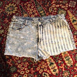 Mossimo American Flag Denim Cutoff Shorts